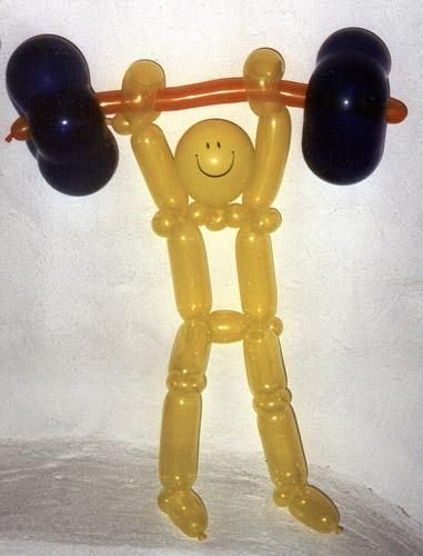 6 Luftballons modelliert,geknotet,gedreht. Schöne Luftballonfigur= Ballonkunst
